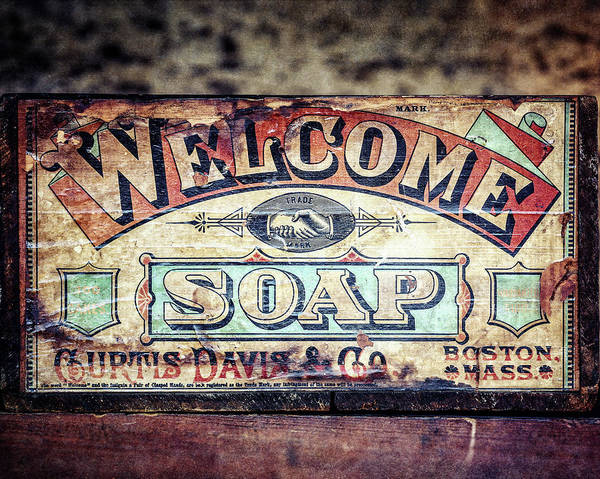 Wall Art - Photograph - Welcome Soap In Color by Lisa Russo
