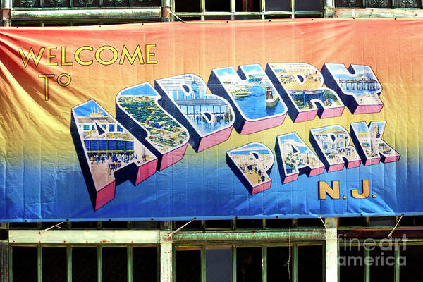 Photograph - Welcome To Asbury Park 2006 by John Rizzuto