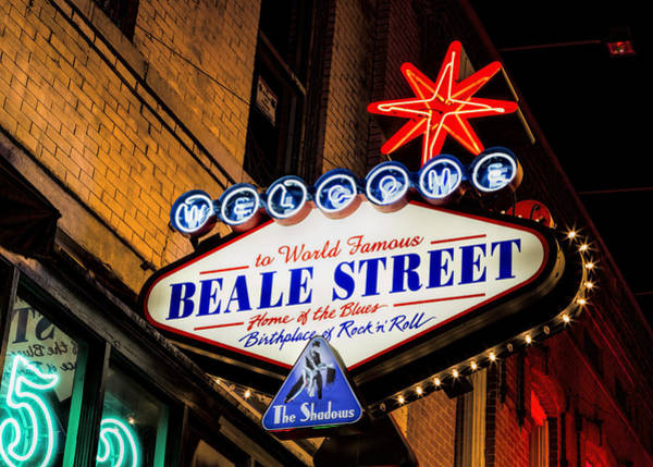 Honky Tonk Photograph - Welcome To Beale Street by Stephen Stookey