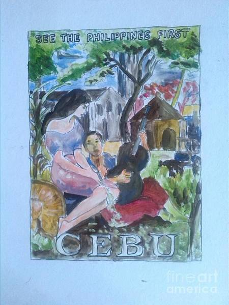 Wall Art - Painting - Welcome To Cebu by Richard John Holden RA