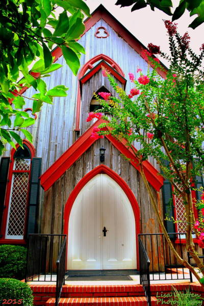 Photograph - Welcome To Church Of The Cross Bluffton Sc by Lisa Wooten