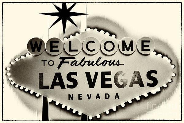 Photograph - Welcome To Fabulous Las Vegas Nevada by Leslie Leda