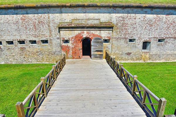 Battle Of The Atlantic Wall Art - Photograph - Welcome To Fort Macon North Carolina by Lisa Wooten