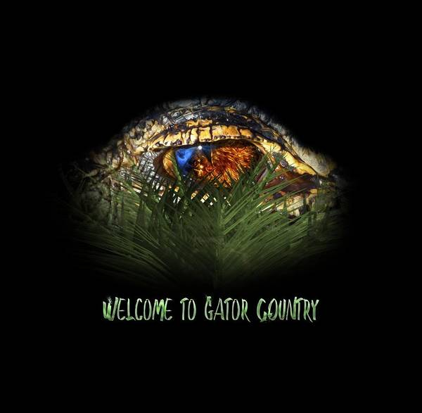 American Crocodile Photograph - Welcome To Gator Country Design by Mark Andrew Thomas