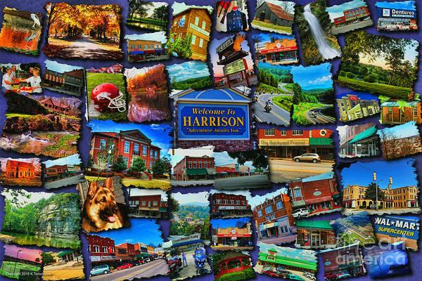 Digital Art - Welcome To Harrison Arkansas by Kathy Tarochione