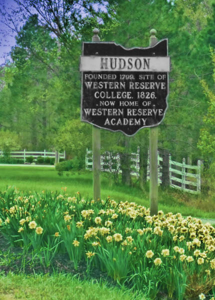 Wall Art - Photograph - Welcome To Hudson Ohio by Kenneth Krolikowski