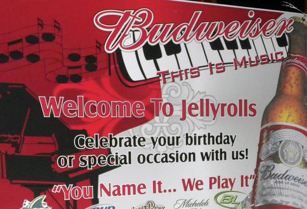 Town Square Mixed Media - Welcome To Jellyrolls Walt Disney Signage by Thomas Woolworth