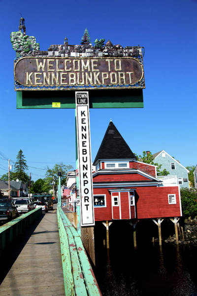 Kennebunkport Maine Photograph - Welcome To Kennebunkport by Karol Livote