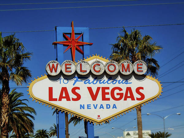 Photograph - Welcome To Las Vegas by Paulette B Wright