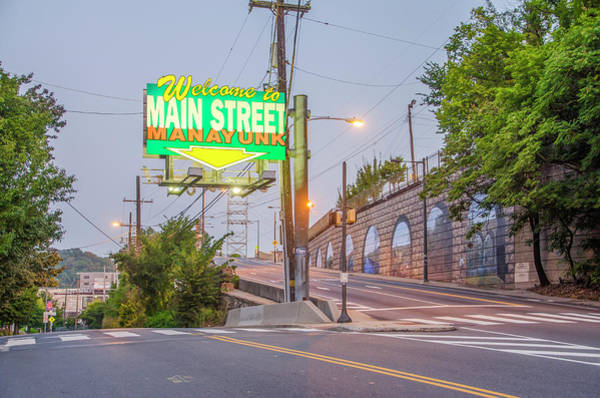 Wall Art - Photograph - Welcome To Main Street Manayunk by Bill Cannon