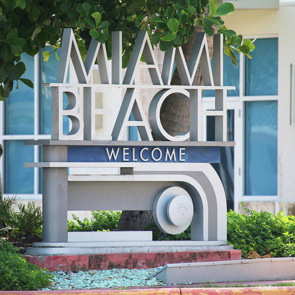 Wall Art - Photograph - Welcome To Miami Beach by Art Block Collections