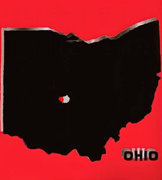 Osu Digital Art - Welcome To Ohio by Dan Sproul