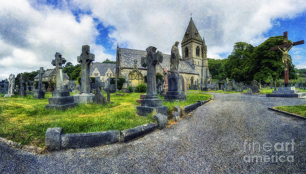 Grave Yard Photograph - Welcome To Our Church by Ian Mitchell