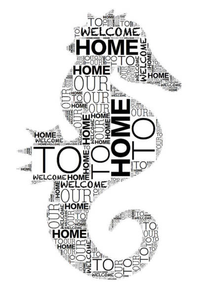 Digital Art - Welcome To Our Home Seahorse by Alice Gipson