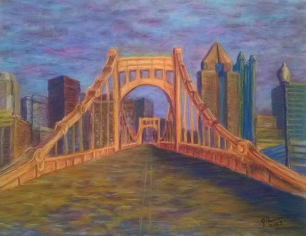 Wall Art - Pastel - Welcome To Pittsburgh by Joann Renner