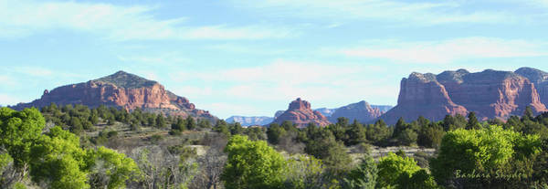 Painting - Welcome To Sedona Arizona Pano by Barbara Snyder