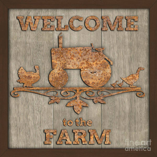 Wall Art - Painting - Welcome To The Farm-jp3469 by Jean Plout