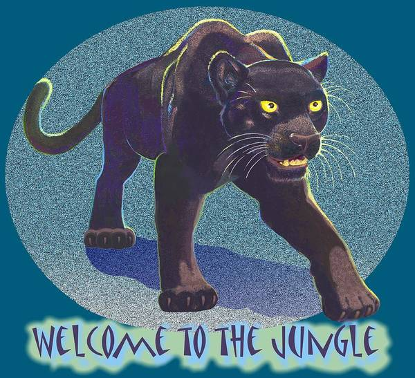 Black Panther Mixed Media - Welcome To The Jungle by J L Meadows