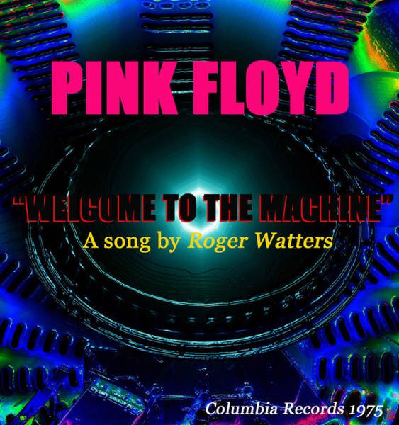 Pink Floyd Painting - Welcome To The Machine by David Lee Thompson