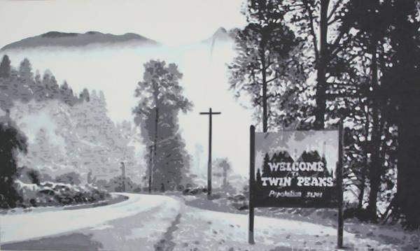 Ludzska Wall Art - Painting - Welcome To Twin Peaks by Ludzska