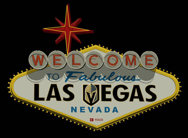 Wall Art - Photograph - Welcome To Vegas Knights Sign Digital Drawing by Ricky Barnard