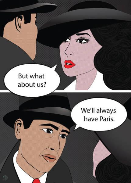 Bogart Digital Art - We'll Always Have Paris by Fabrica Graphica