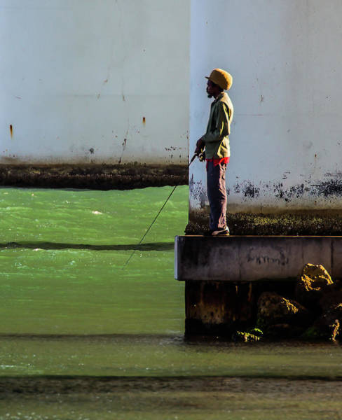 Photograph - Well-dressed Fisherman by Richard Goldman