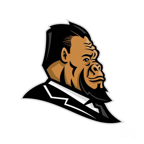 Groom Digital Art - Well-groomed Gorilla Mascot by Aloysius Patrimonio