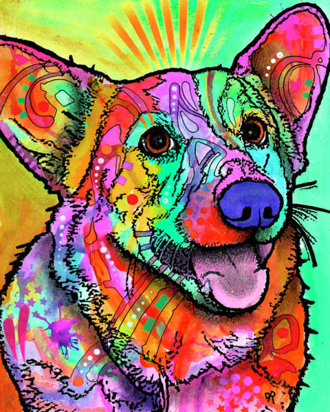 Painting - Well Lit Corgi by Dean Russo Art
