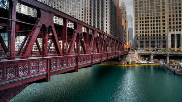 Photograph - Well Street Bridge, Chicago by Nisah Cheatham