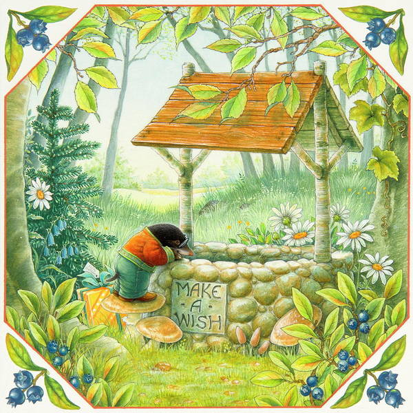 Wishing Well Painting - Well Wishing by Lynn Bywaters