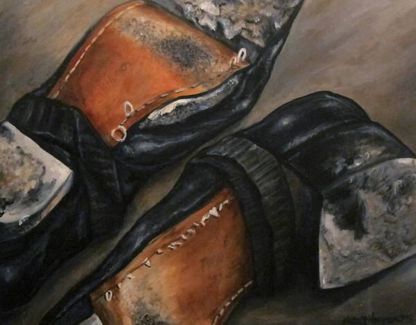Irish Dance Painting - Well Worn Dance Shoes  by Nicole McKeever