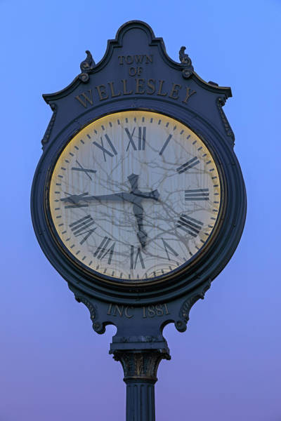 Photograph - Wellesley Square Clock by Juergen Roth