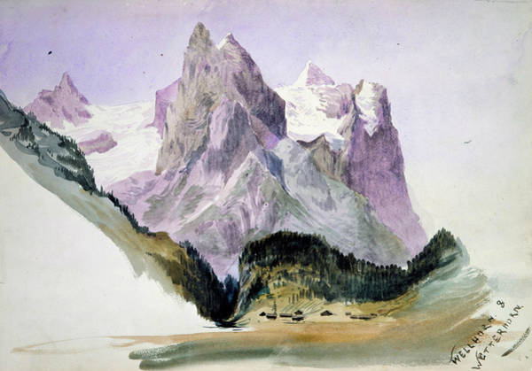 Drawing - Wellhorn And Wetterhorn From Brunig by John Singer Sargent