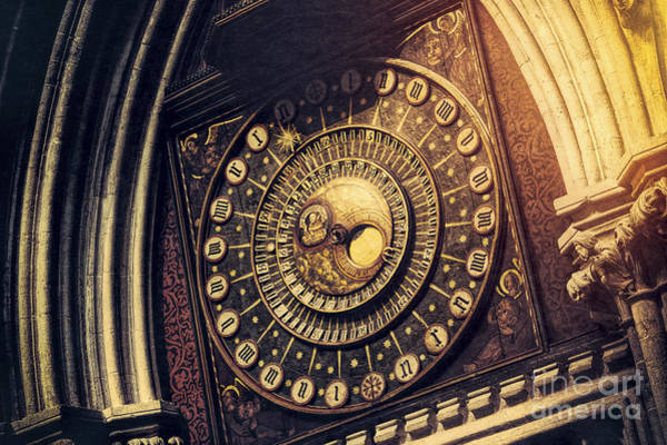 Photograph - Wells Cathedral Astronomical Clock  by Tim Gainey