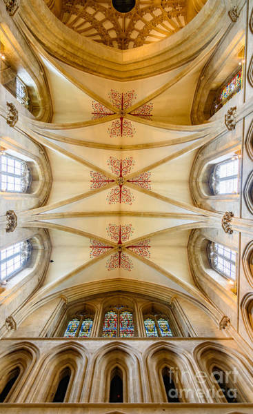Photograph - Wells Cathedral Ceiling by Colin Rayner