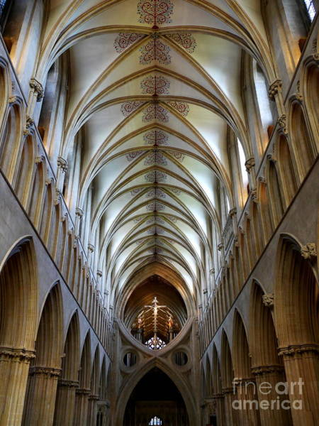 Photograph - Wells Cathedral Ceiling  by Lexa Harpell