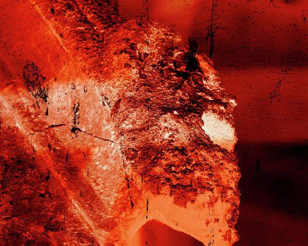 Photograph - Wells Cathedral Gargoyles Color Negative E by Jacek Wojnarowski