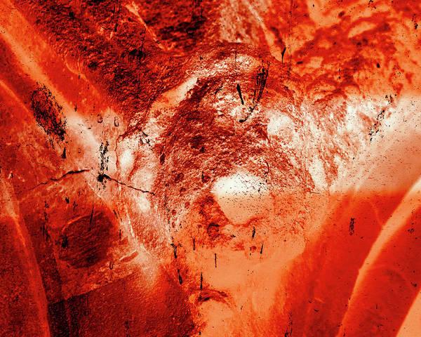 Photograph - Wells Cathedral Gargoyles Color Negative H by Jacek Wojnarowski