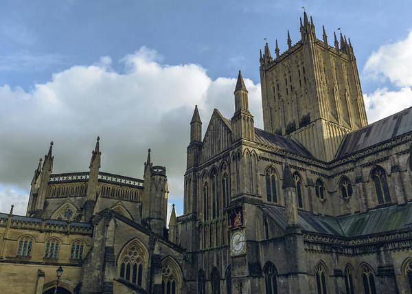 Photograph - Wells Cathedral South West View by Jacek Wojnarowski