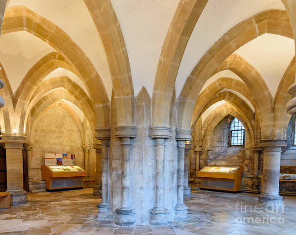 Photograph - Wells Cathedral Undercroft by Colin Rayner