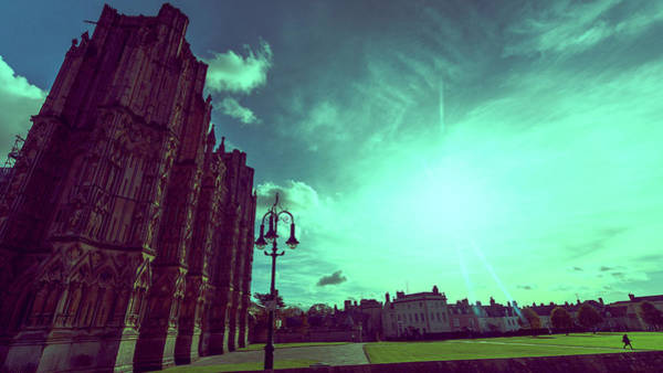 Photograph - Wells Cathedral West Facade by Jacek Wojnarowski