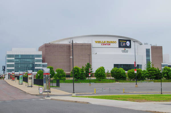 Photograph - Wells Fargo Center - Home Of The Flyers And Sixers by Bill Cannon