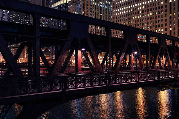 Photograph - Wells Street Bridge II by Nisah Cheatham