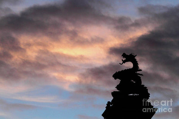 Photograph - Welsh Dragon At Sunset 1 by James Brunker