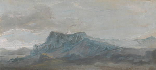 Painting - Welsh Mountain Study by Paul Sandby