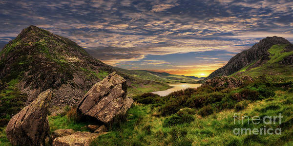 Wall Art - Photograph - Welsh Mountains Snowdonia by Adrian Evans