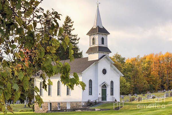 Photograph - Welsh Road Church In Fall II by Rod Best