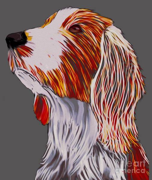 Welsh Springer Spaniel Painting - Welsh Springer Spaniel by Karen Harding
