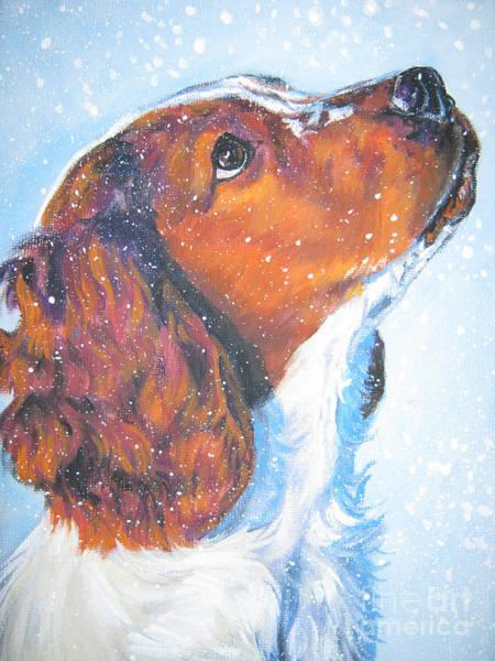 Wall Art - Painting - Welsh Springer Spaniel by Lee Ann Shepard